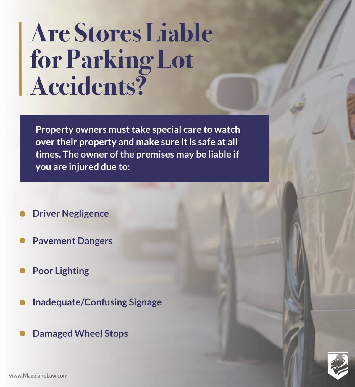Are Stores Liable for Parking Lot Accidents? | Maggiano, DiGirolamo and Lizzi