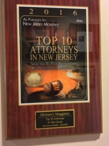 """TOP TEN Attorneys"" Recognition from New Jersey Monthly Magazine"