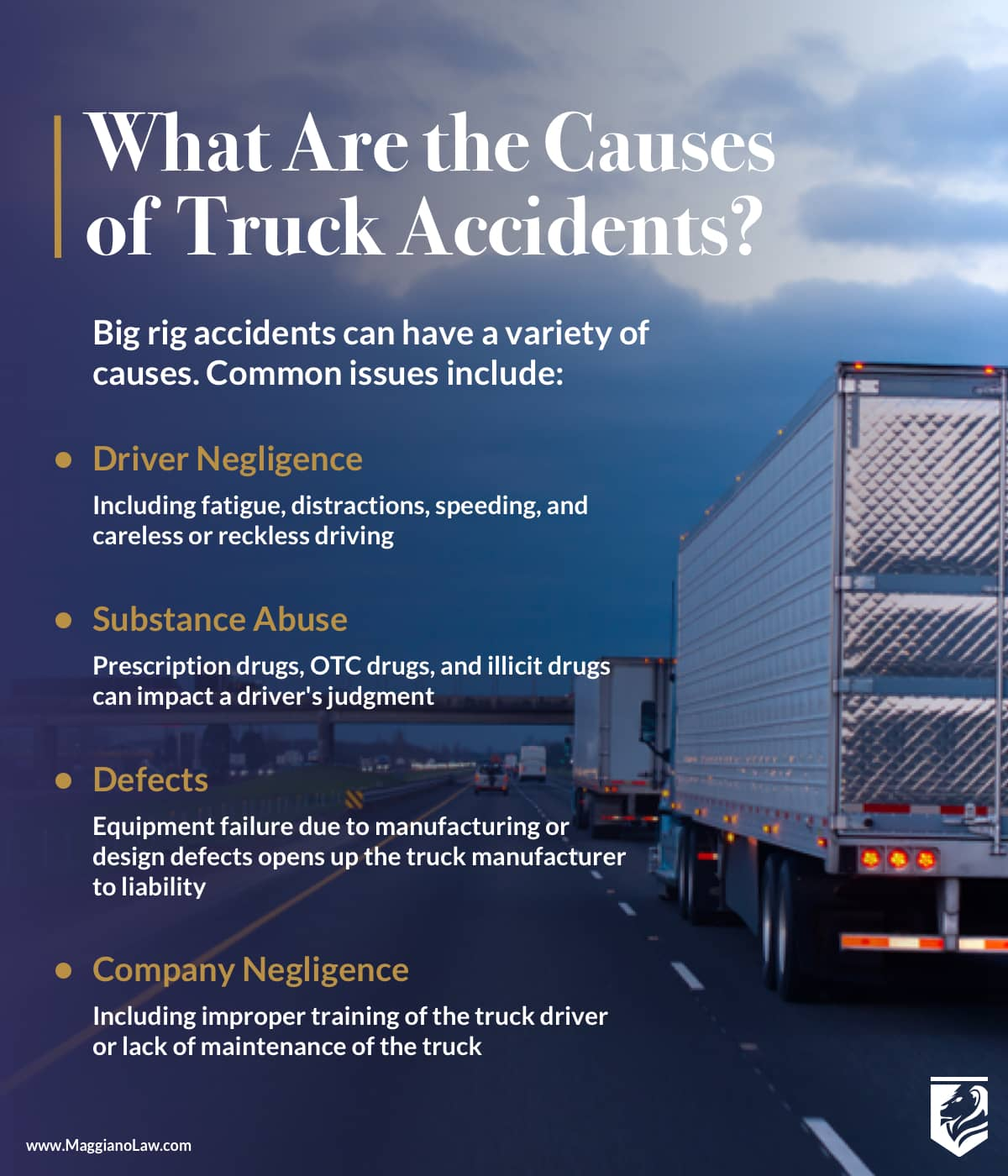Common Causes of Truck Accidents | Maggiano, DiGirolamo and Lizzi